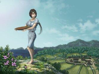 イラストカード【一支国の娘】の画像