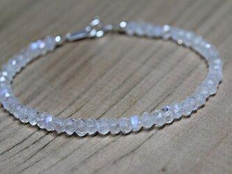 宝石質ホワイトラブラドライト silver925 ブレスレットの画像
