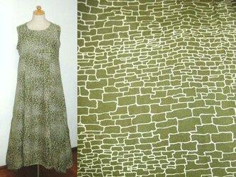 着物リメイク♪石畳模様・紬チュニックワンピース裾変形の画像