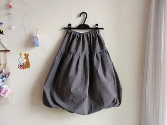 [春夏新作]ナチュラルキャンブリック大人バルーンスカート[ストーングレー]の画像