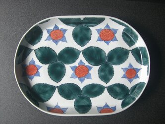 蛇苺文長皿の画像