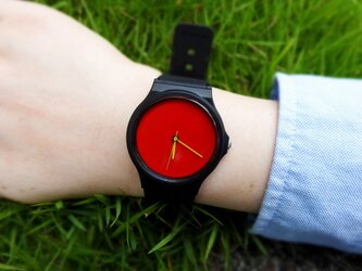 Wrist watch Red ×Yellowの画像