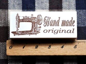 黒ミシンcuddly handmadeスタンプ・はんこの画像
