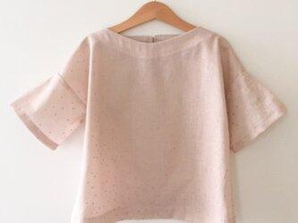[ 受注生産 ]半袖ドロップショルダーブラウス 110〜130 ピンクの画像