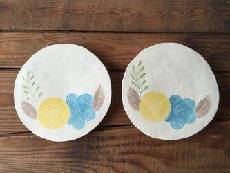 tataki plate - blue&yellow -の画像