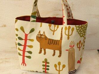 ネコちゃん手描きバッグ08の画像
