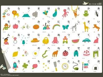 ポスター 「あいうえお50音表」の画像