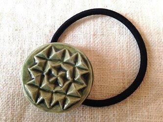 ヘアゴム 石畳 織部の画像