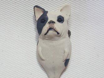 フレンチブルドッグ(パイド)ブローチの画像