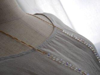 シンプルチェコビーズのロングネックレスの画像