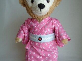 ダッフィーの浴衣 ピンク小柄女仕立ての画像