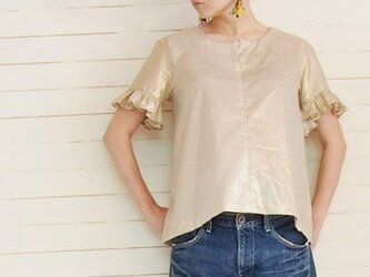 gold Aline blouseの画像