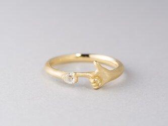 【オーダー】ダイヤモンド原石 指差しリングの画像