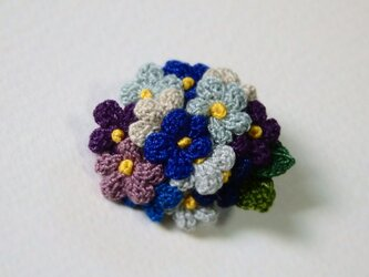 *再販* 小花のブローチ 紫・ブルー系の画像