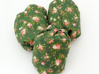 お手玉 小花柄のたわら型6つセットの画像