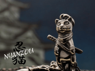 【bastet】 忍猫 NYANZOU ペンダントの画像