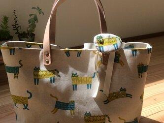 sac de chat ivoire 猫のアイボリー バッグの画像