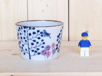 そばちょこ ガーデン柄(ブルー)の画像