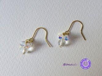 ハッピーの実☆ピアス-水晶- (phfcq01)の画像