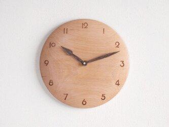 掛け時計 丸 ブナ材1の画像