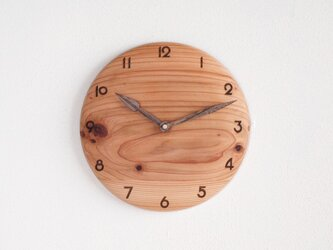 掛け時計 丸 杉材1の画像