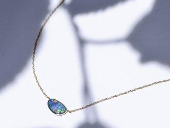 Azure Blue -Necklace-◇K18YG/PG×Opalの画像
