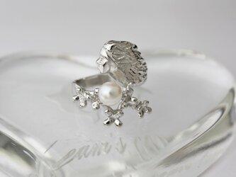 真珠の女神 シルバーリングの画像