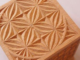 【木工彫刻】チップカービング小箱 #3の画像