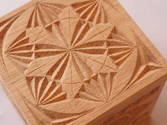 【木工彫刻】チップカービング小箱 #4の画像