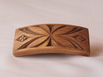 #1 チップカービングバレッタ 【木工彫刻】の画像