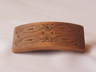 #2 チップカービングバレッタ 【木工彫刻】の画像