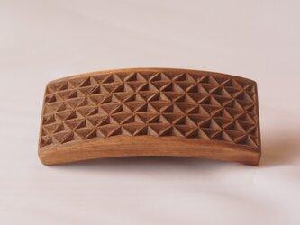 #4 チップカービングバレッタ 【木工彫刻】(同じ柄のものが出品されました!!)の画像