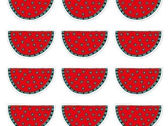 すいカード 星シリーズ -スイカ-【12枚入り】の画像