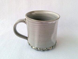 白釉銀彩マグカップの画像