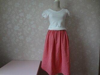ふんわり☆おとなピンクギャザースカートの画像