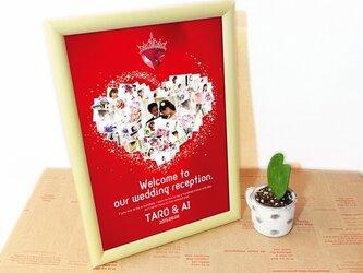 A4★今だけ価格★世界に一つのパステルポスター★ウェディング・LOVE★額縁付★飾りやすいサイズの画像