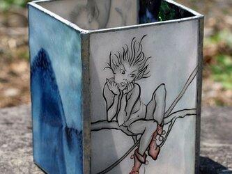 ステンドグラス~妖精達のキャンドルホルダーの画像
