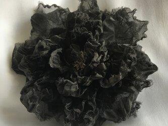 オーガンジーブラック系コサージュの画像