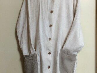 リネンのシャツワンピの画像