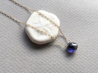 アイオライトのひとつぶネックレスの画像
