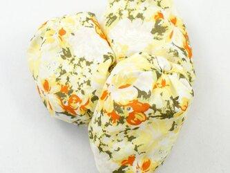 お手玉 黄色花柄のたわら型6つセットの画像