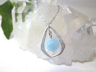 天然石ネックレス *aquamarine drop*の画像