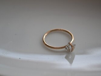 【k14gf】Herkimer ring【受注製作】の画像