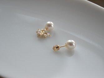 【k14gf】petit-Herkimer pierced earring【受注製作】の画像