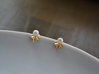 【k14gf】-楓-2way pierced earring【受注製作】の画像