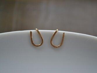 【k14gf】horseshoe pierced earring【受注製作】の画像