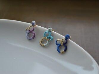 【k14gf】-片耳-まるwrap pierced earring【受注製作】の画像