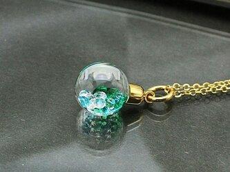 Bijou Glass Ball Pendant グリーンアイスブルーカラーの画像