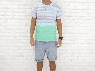 メンズタイダイTシャツ<エコビーチ> サイズMの画像