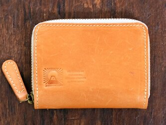 JAPAN LEATHERの馬革コインケース【キャメル】 小さなお財布 名入れできますの画像